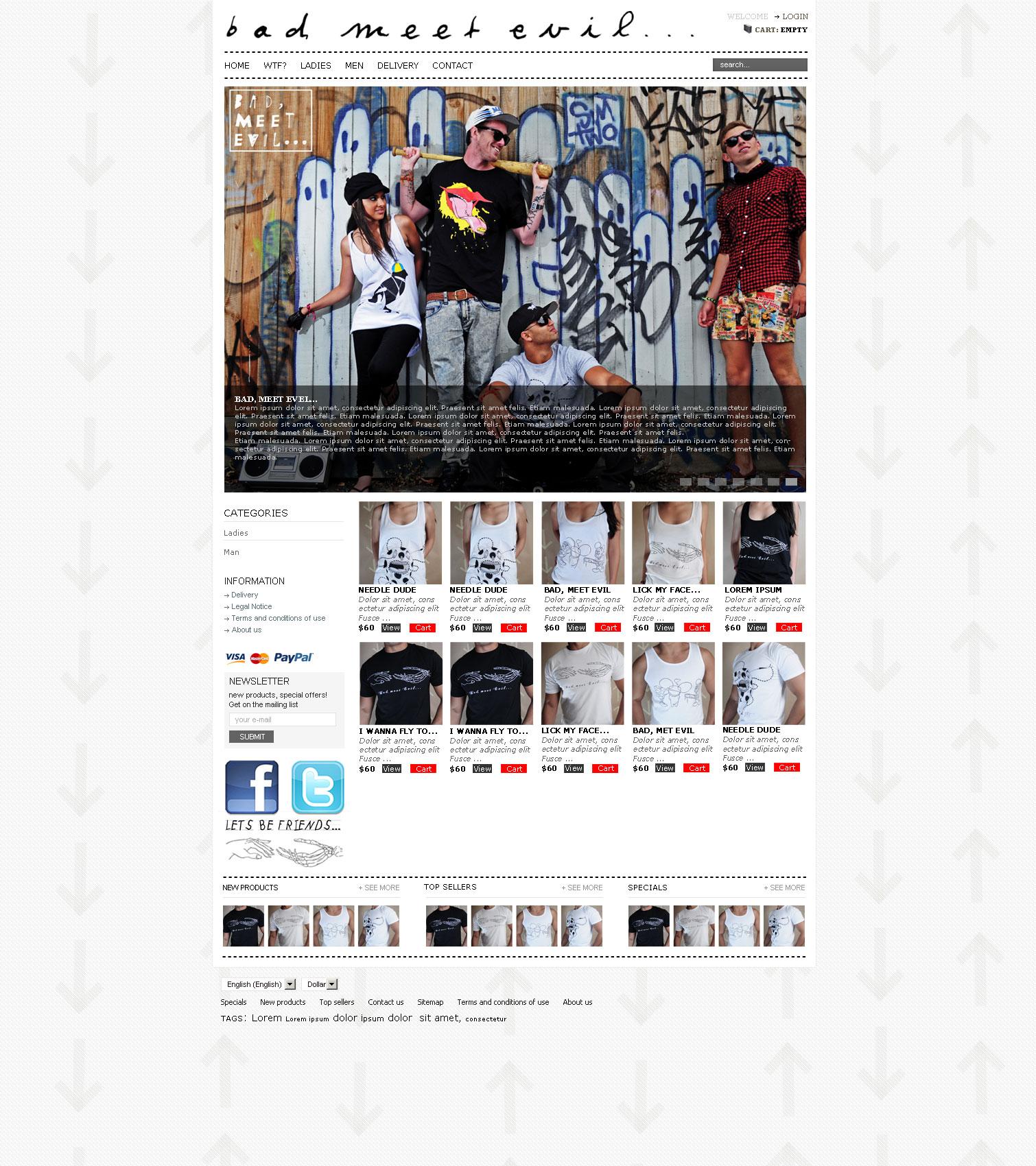 Design t shirt melbourne - E Commerce T Shirt Shop Website Design Melbourne