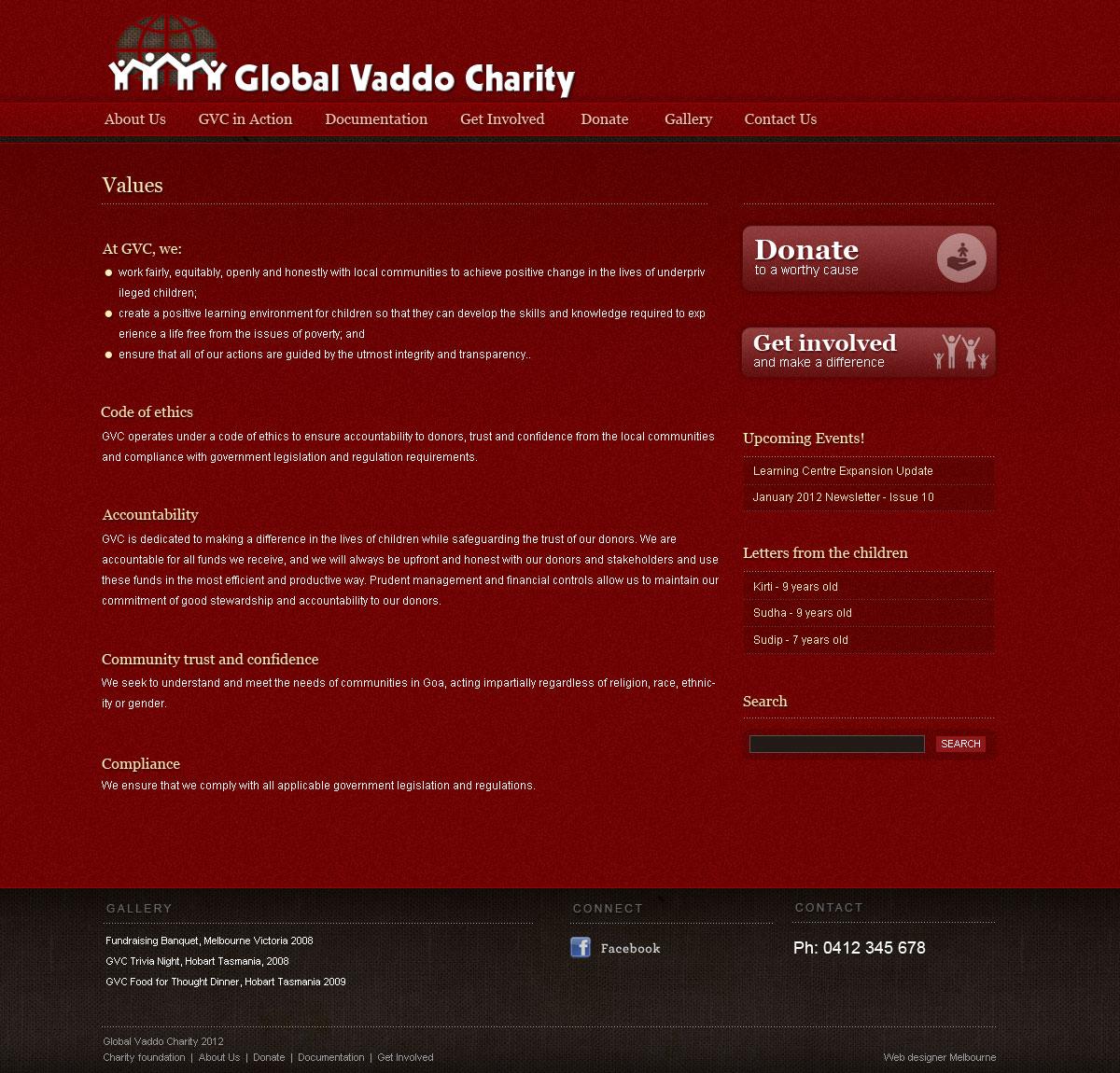 charity web design Melbourne