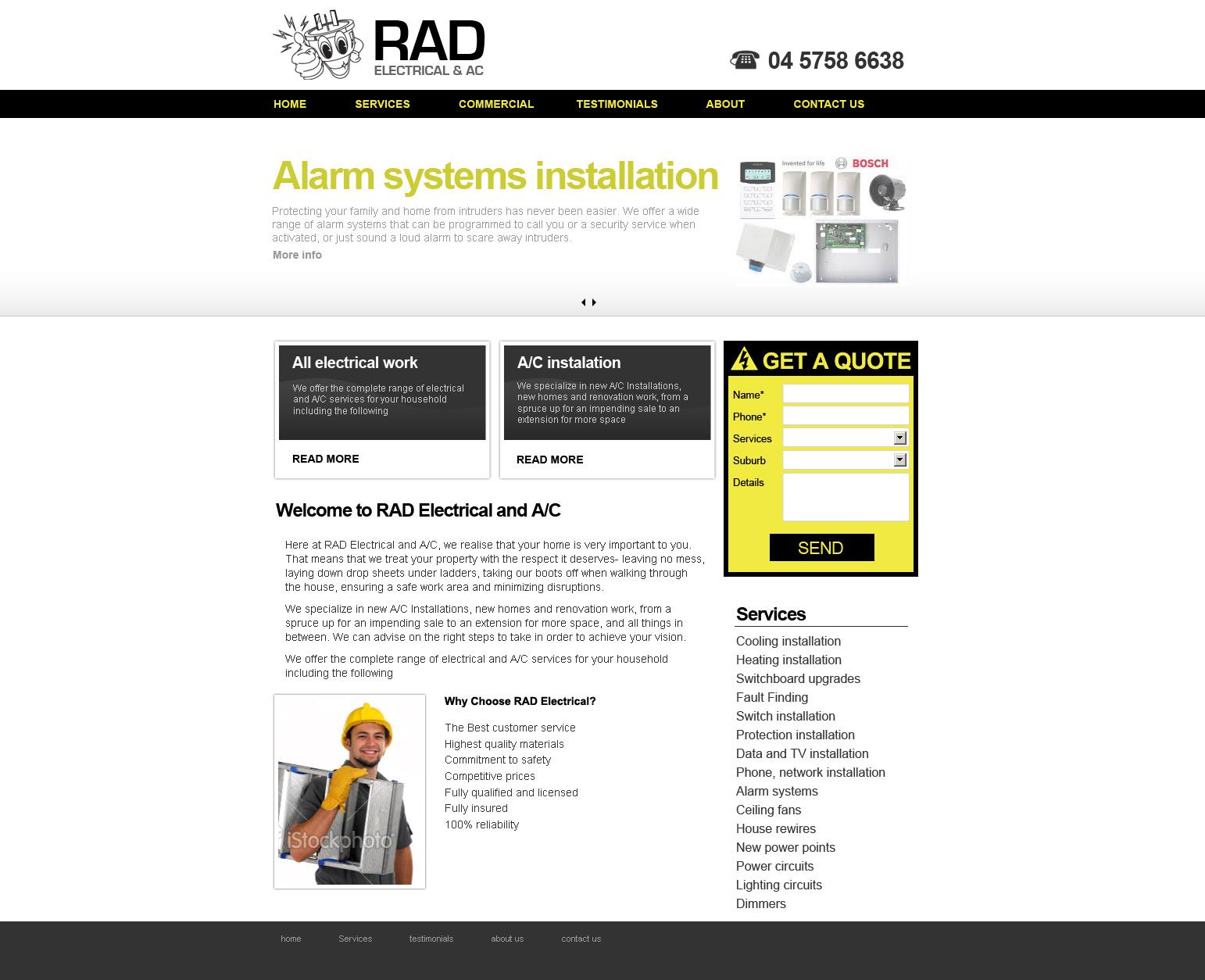 Electrician website design Melbourne