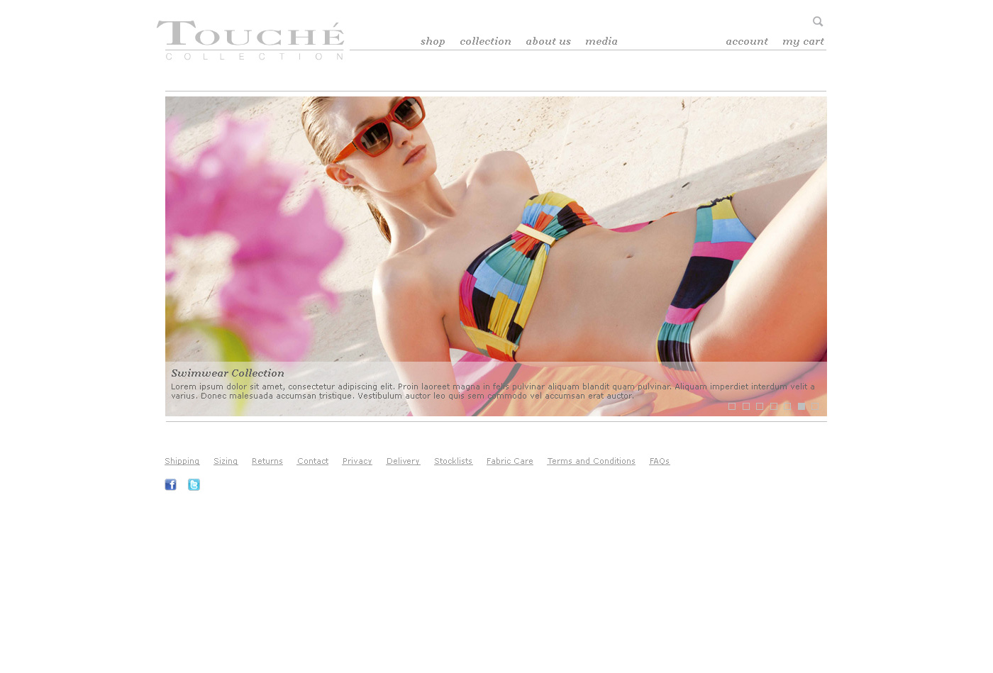 fashion shop web design