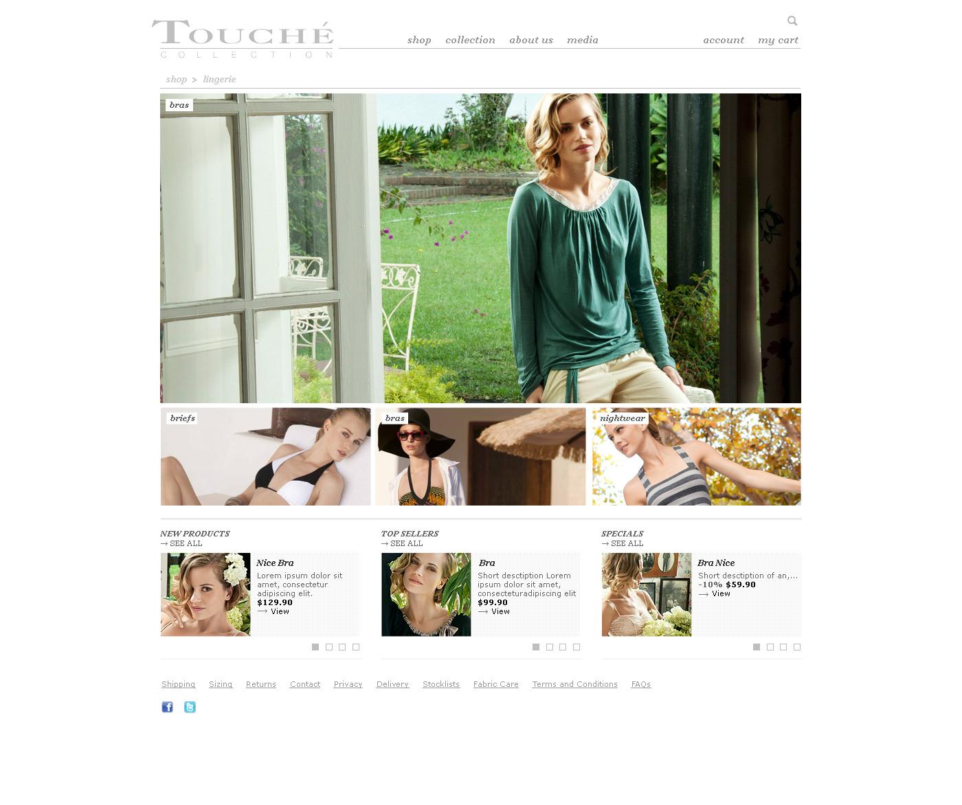Fashion lingerie web design Melbourne