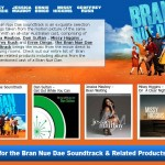 Movie dvd promo landing page design