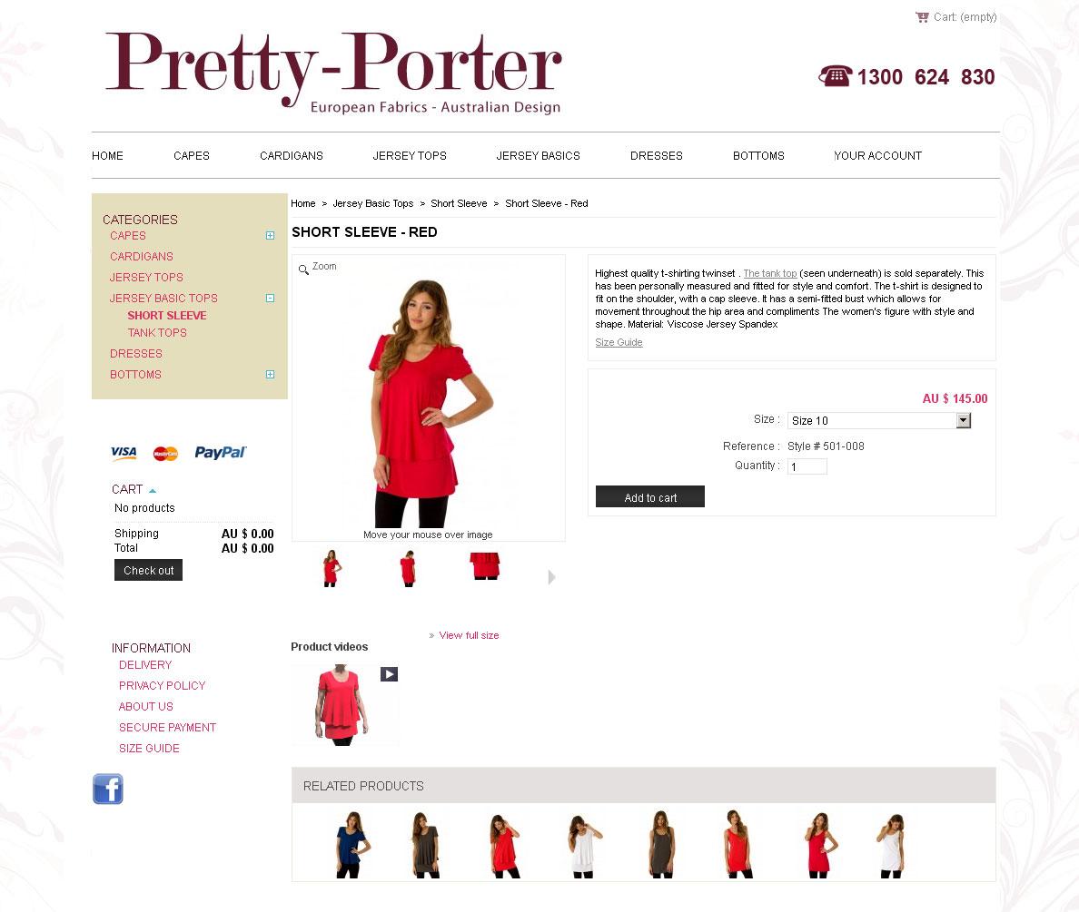 Fashion e-commerce webdesign Melbourne